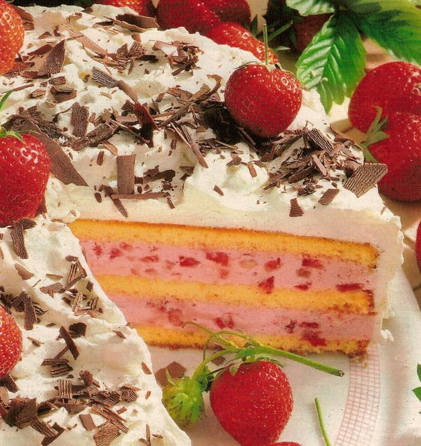 Рецепт торт суфле с клубникой рецепт