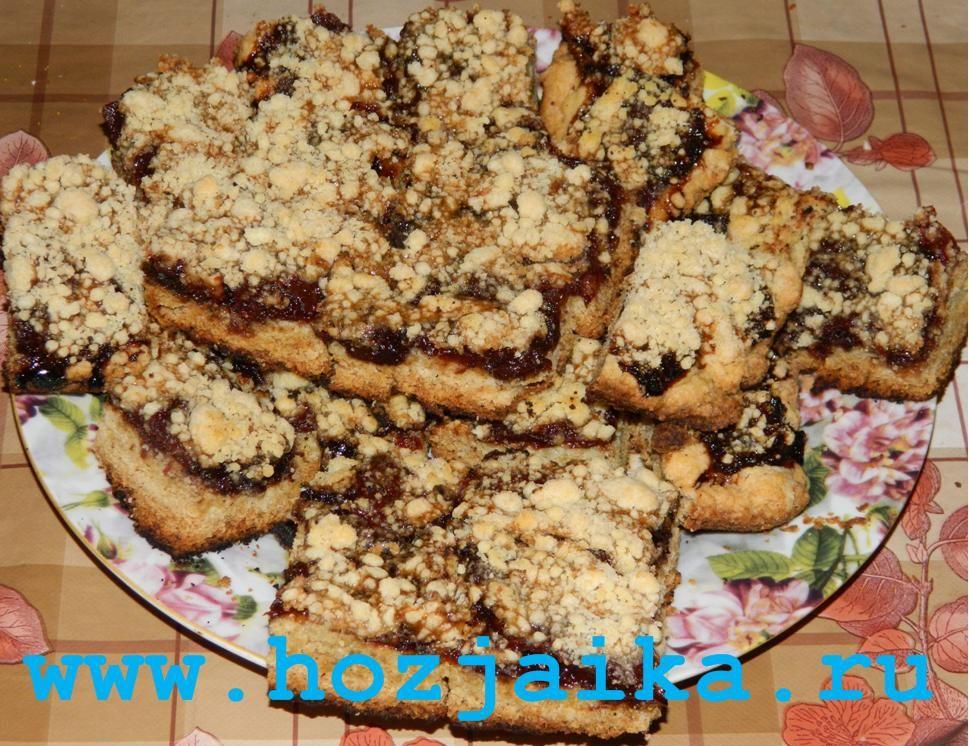 Пирог с крошкой и вареньем рецепт с