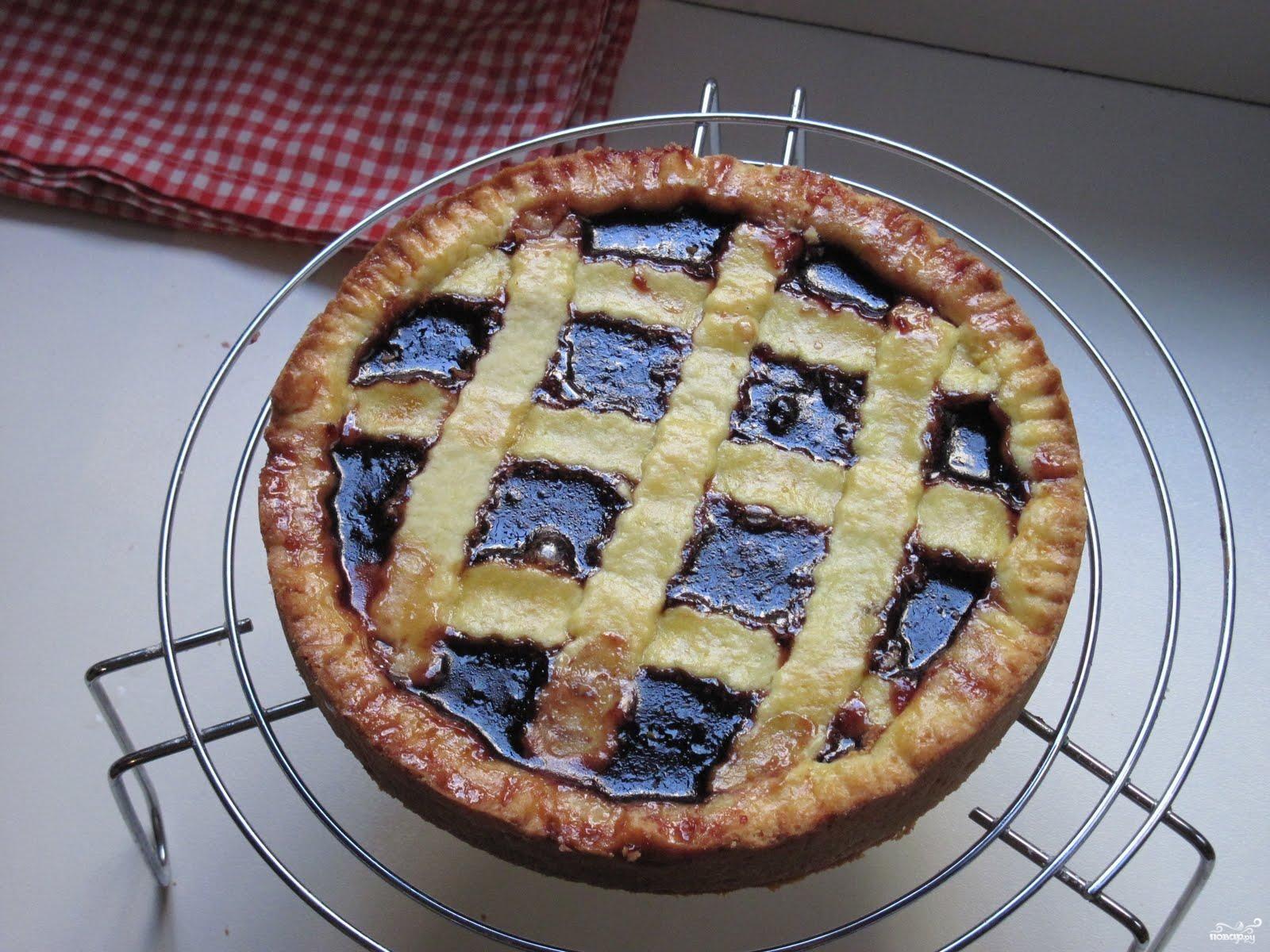 Пирог с вишневым вареньем простой рецепт