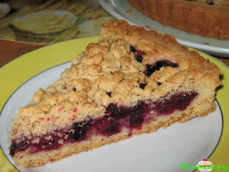 Песочное тесто пирог с вишней рецепт с фото