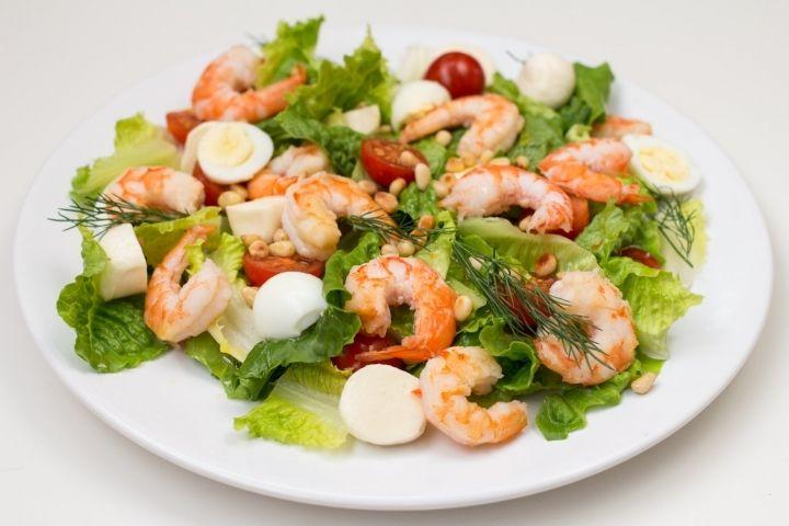Салат рецепты с простые и вкусные с креветками