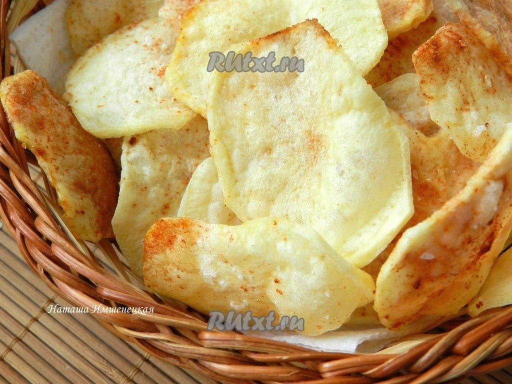 Картофельные чипсы в микроволновке рецепт без масла