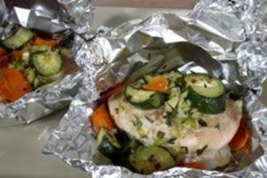 Куриная филе в фольге с овощами в духовке рецепт