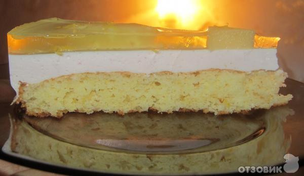 Торт с желе и бисквитом рецепт с пошагово
