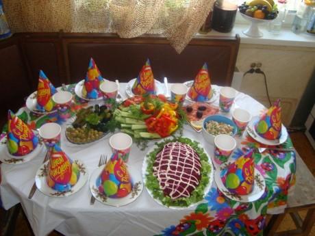 Детский стол на праздник рецепты