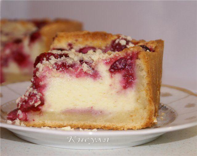 Бисквит с малиной рецепт с пошагово