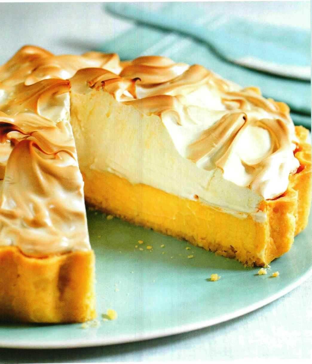 Рецепт лимонный пирог из песочного теста