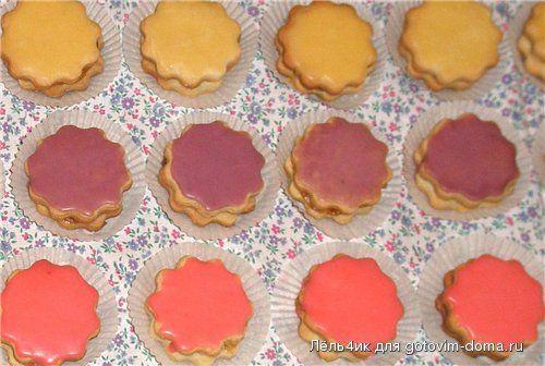 Пирожное школьное с глазурью рецепт