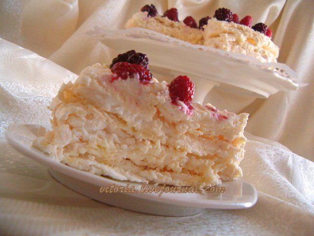 торт с кремом и безе рецепт с фото