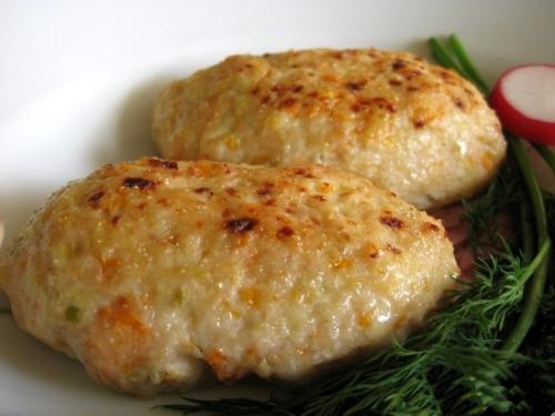 Котлеты из фарша в духовке рецепт с начинкой с сыром