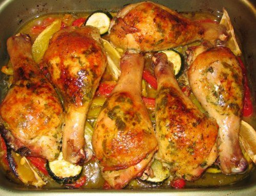 Голень курицы в духовке в рукаве рецепт