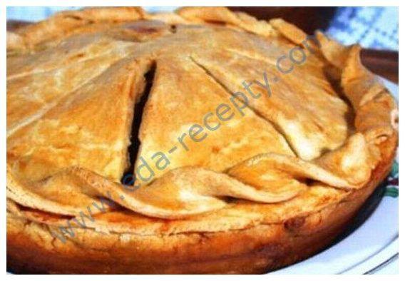 Рецепт песочного мясного пирога