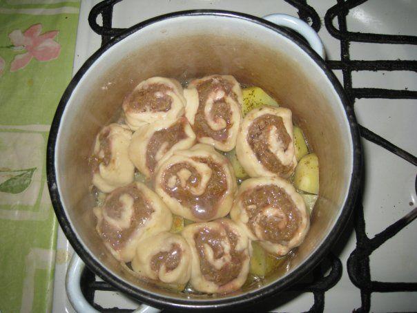 Рецепты штруделя с картофелем и мясом
