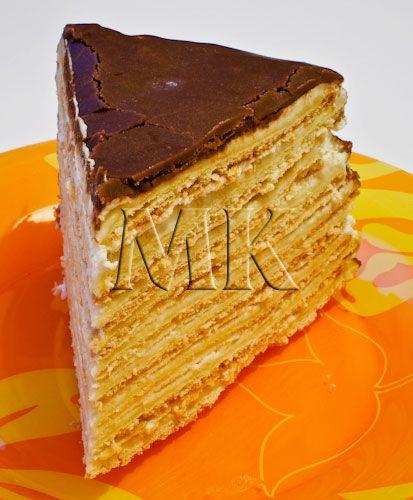 Торт из тонких коржей рецепт с фото