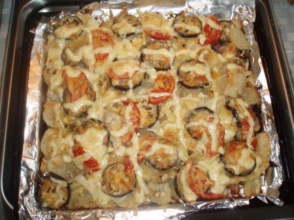 Запеканка картошка с фаршем и овощами