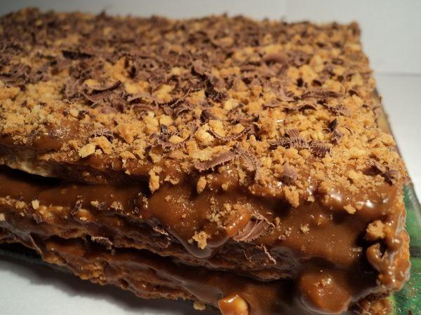 Бисквитный торт с варёной сгущенкой рецепт простой